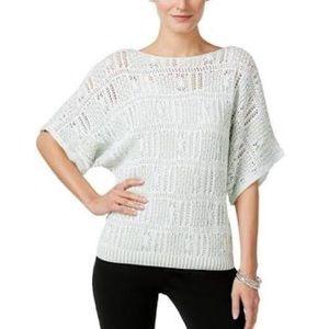 Jeanne Pierre Open Knit Pullover Sweater NWT